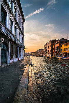 Venice sunset by Ivan Vukelic