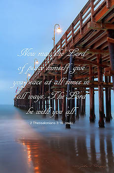 Ventura CA Pier with Bible Verse by John A Rodriguez