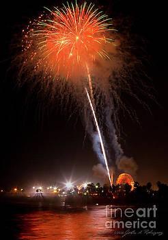 Ventura California Fair Fireworks by John A Rodriguez