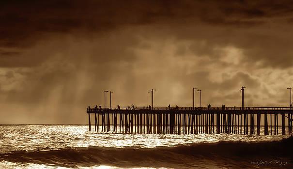 Ventura California Pier, 1969 by John A Rodriguez