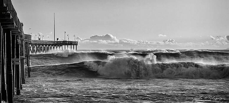 Ventura Pier El Nino 2016 by John A Rodriguez