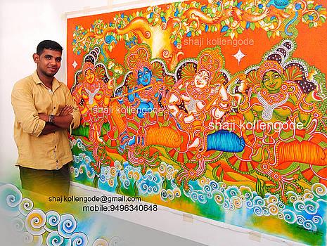 Venugopalam- Kerala Mural Painting by Shaji Kollengode