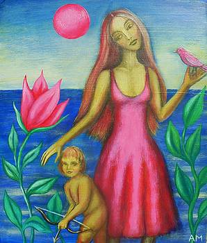 Venus and Cupid by Alice Mason