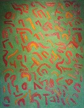Green No. 119 Oil on canvas 2010 22 x 28 by Radoslaw Zipper