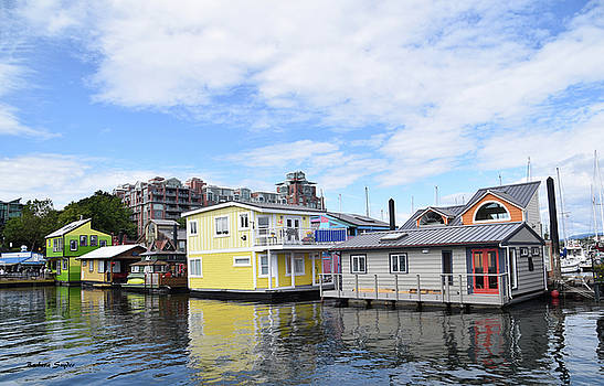Victoria British Columbia Float Houses  by Barbara Snyder