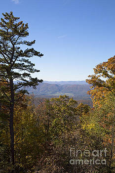 View from Shenandoah Mountain at High Knob Trail by Louise Heusinkveld