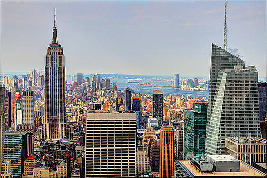 View From the Top of The Rock Rockefeller Center NYC  by Wayne Moran