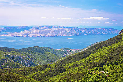View from Velebit mountain on Senj by Dalibor Brlek
