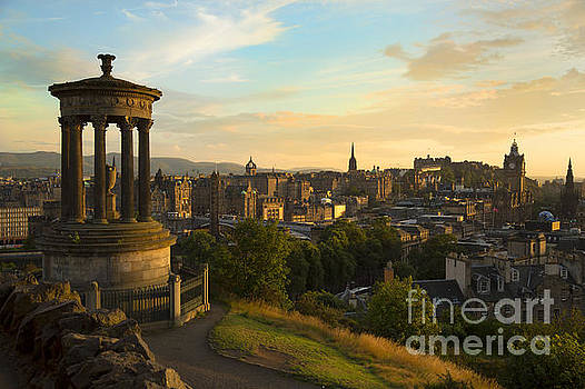 View of Edinburgh city from Carlton Hill by Isabel Poulin