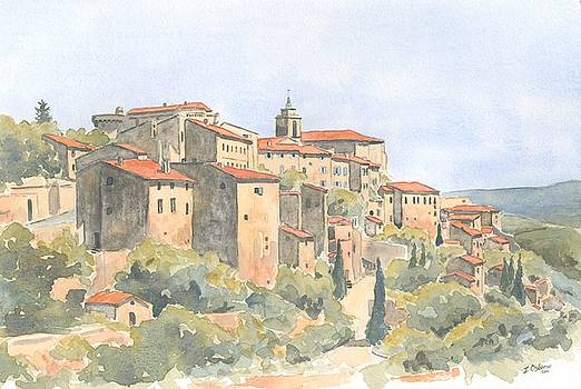 View of Gordes by Ian Osborne