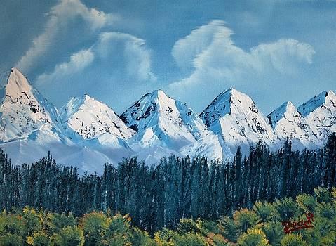 View of Himalayan Rangaes from Nainital, India by Dipali Deshpande