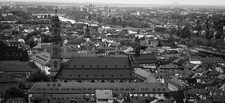 Teresa Mucha - View of Jesuitenkirche B W