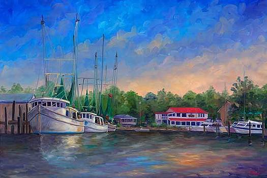 View of Oriental NC Marina by Jeff Pittman