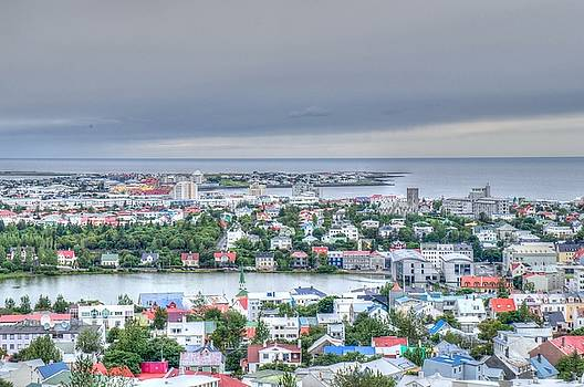 View of Reykjavik from the Hallgrimskirkja, Iceland by Deborah Squires