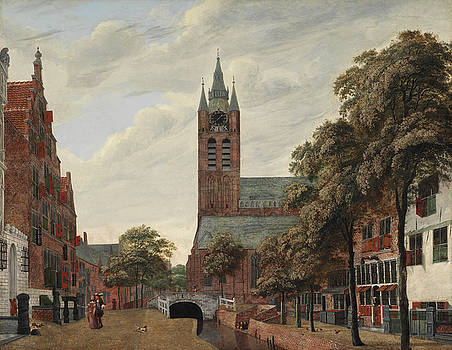 Jan Van der Heyden - View of the Oude Delft Canal