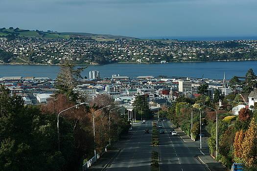 Terry Perham - View Stuart St To Waverly Dunedin NZ