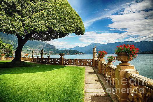 Villa Terrace at Lake Como by George Oze