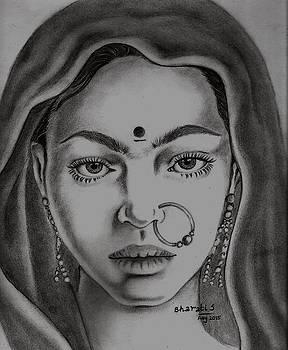Village Girl by Bharati Subramanian