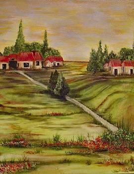 Village in The Sun by Cindy Watson