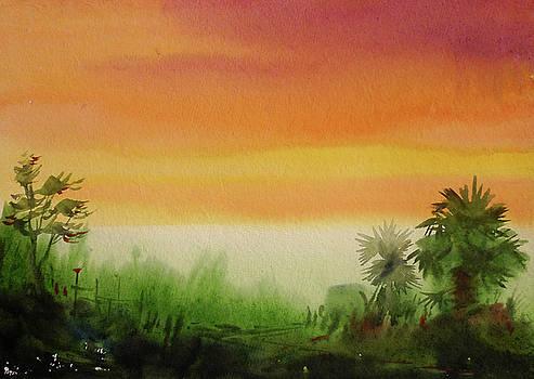 Village Sunset  by Samiran Sarkar