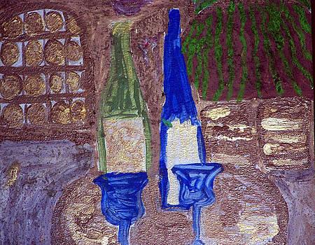 Vineyard Scene by Maggie Cruser