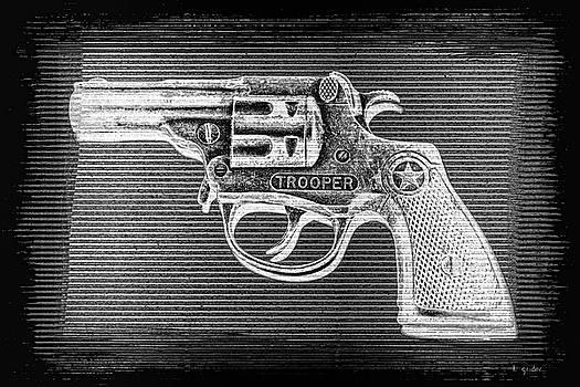Vintage 1950's Cap Pistol BW Negative by Tony Grider