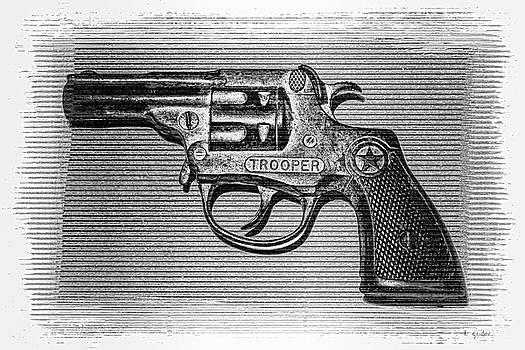 Vintage 1950's Cap Pistol BW by Tony Grider