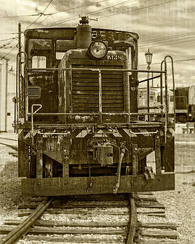 Vintage Army Train cropped by Emily Kay