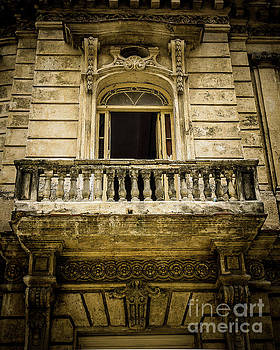 Vintage Balcony Cuba by Perry Webster