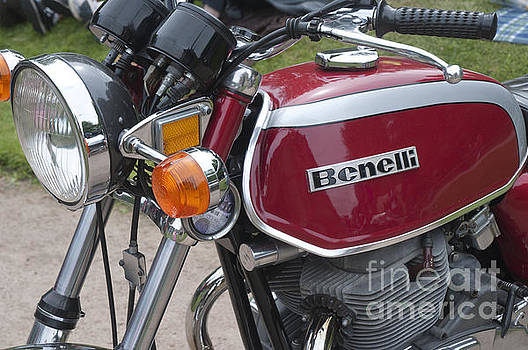 Vintage Benelli Bike by Brenda Kean