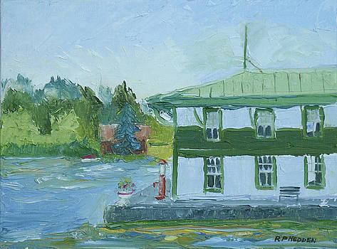 Vintage Boathouse by Robert P Hedden