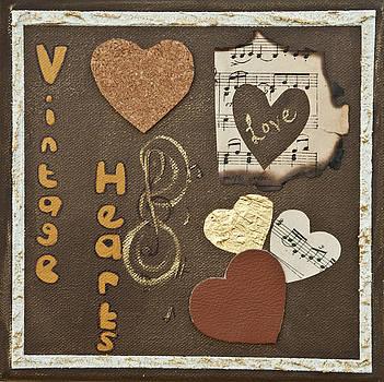 Vintage boutique hearts by Alison Quine