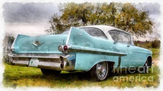 Edward Fielding - Vintage Cadillac Watercolor