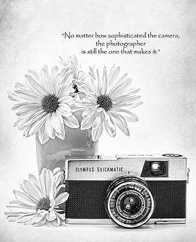 Vintage Camera black and white by Vicki McLead