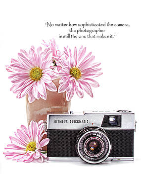 Vintage Camera with quote by Vicki McLead