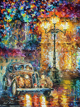 Vintage Car Collection piece 1 by Leonid Afremov