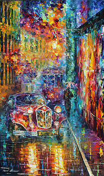 Vintage Car Collection piece 11 by Leonid Afremov