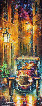 Vintage Car Collection piece 15 by Leonid Afremov