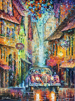 Vintage Car Collection piece 2  by Leonid Afremov