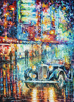 Vintage Car Collection piece 3 by Leonid Afremov