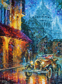 Vintage Car Collection piece 4 by Leonid Afremov