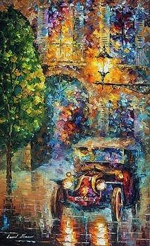 Vintage Car Collection piece 5 by Leonid Afremov