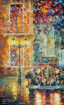 Vintage Car Collection piece 8 by Leonid Afremov