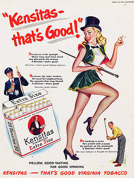 Vintage cigarette ad by Allen Beilschmidt