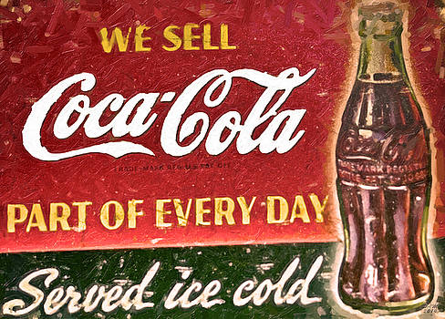 Vintage Coca-Cola Sign by David Millenheft