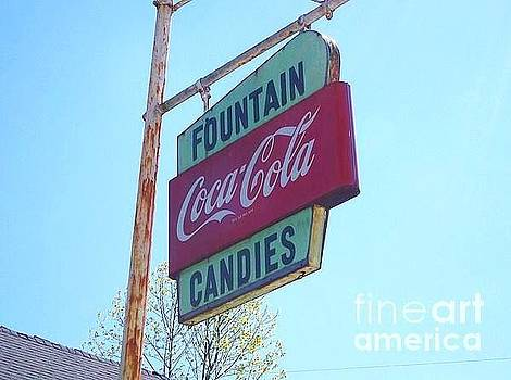 Vintage Coca-Cola sign by Donna Dixon