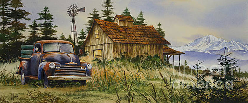 Vintage Country Landscape by James Williamson