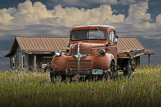 Randall Nyhof - Vintage Dodge Truck on the Prairie