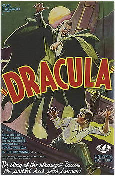 Vintage Dracula Movie Poster by Joy McKenzie