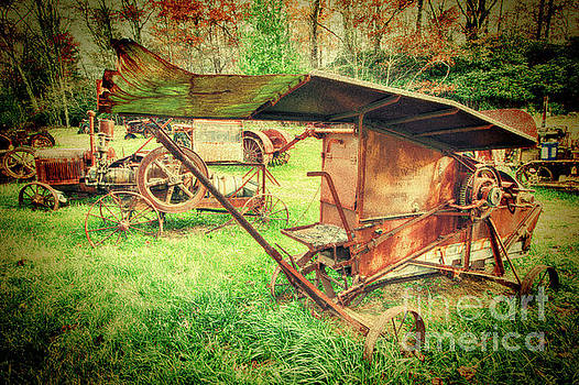 Dan Carmichael - Vintage Farm Equipment in Field
